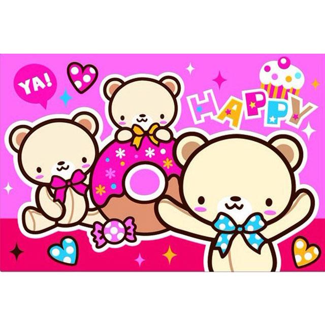 舞动色彩 DIY数字油画 三只熊 20×30cm(手绘油画 创意家居)