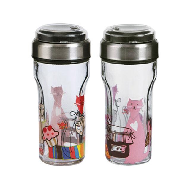 居元素(SENSE) 易趣 幸福猫 调料瓶两件套 N8574AC30 80ml/只