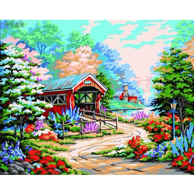 舞动色彩 DIY数字油画 画中美景 40×50cm(手绘油画 创意家居)