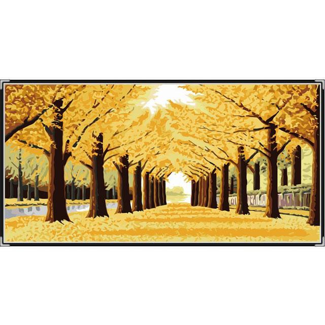 舞动色彩 DIY数字油画 黄金满地 50×100cm(手绘油画 创意家居)