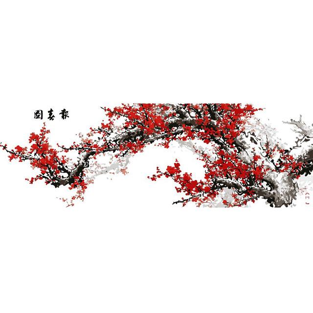 舞动色彩 DIY数字油画 报春图 50×150cm(手绘油画 创意家居)