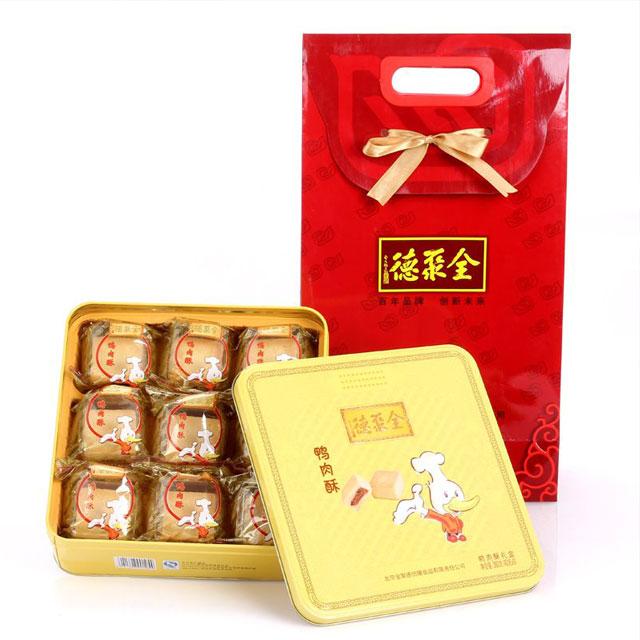 全聚德 鸭肉酥礼盒(铁盒) 360g