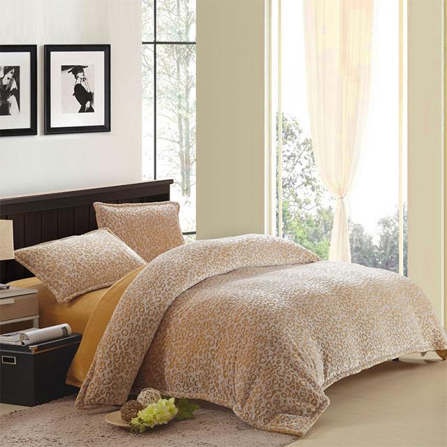 囡囡家纺 法莱绒剪花四件套 1.5m床1.8m床通用