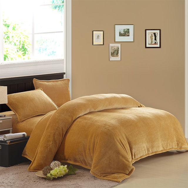囡囡家纺 法莱绒纯色四件套 1.5m床1.8m床通用