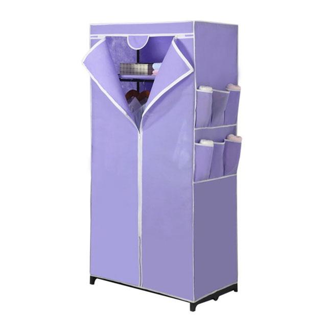 溢彩年华 时尚简易无纺布衣柜衣橱 DKB2-058 浅紫/深紫/蓝绿/草绿
