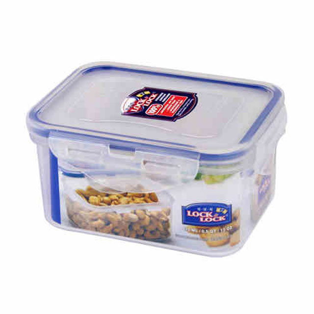 乐扣乐扣(Lock&Lock) 矩形保鲜盒密封收纳盒 HPL807 470ML