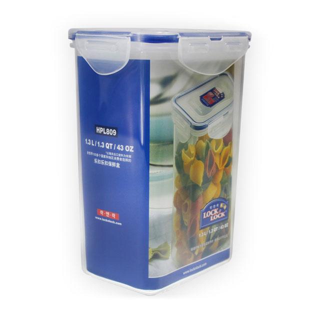 乐扣乐扣(Lock&Lock) 矩形保鲜盒密封收纳盒 HPL809 1.3L