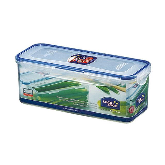 乐扣乐扣(Lock&Lock) 长方形保鲜盒密封收纳盒 HPL844 2L