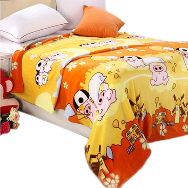 囡囡家纺 法莱绒毯保暖床单