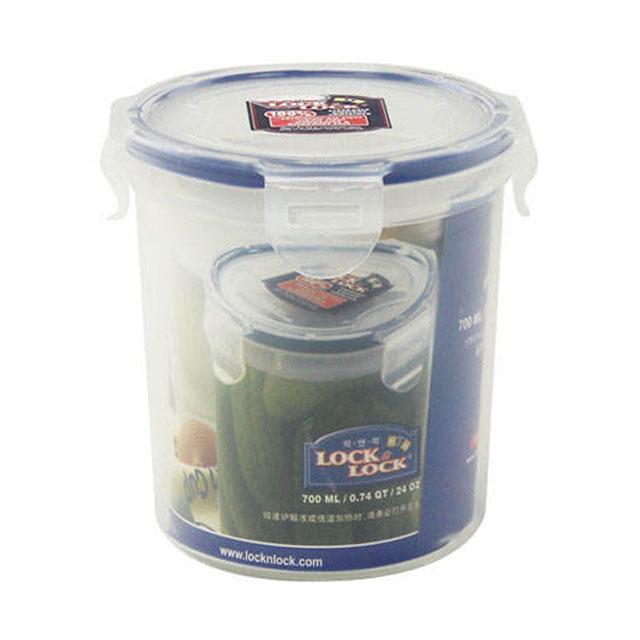 乐扣乐扣(lock&lock) 圆形保鲜盒密封收纳盒 HPL932D 700ml