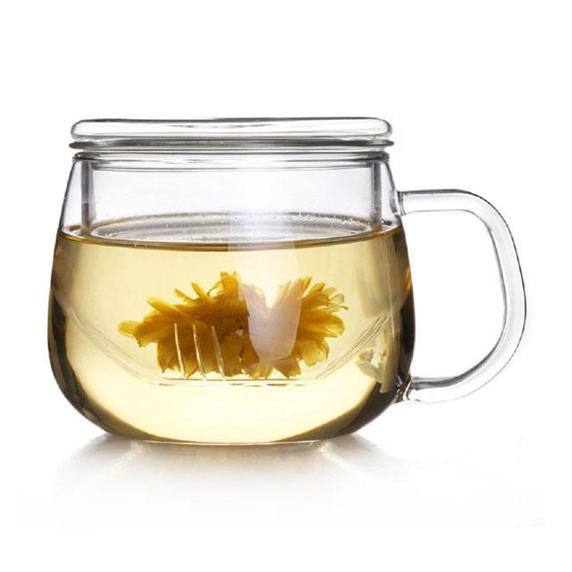乐怡(VATIRI) 圆趣耐热透明玻璃茶杯 VTC0001 300ml(用友实体店自提)