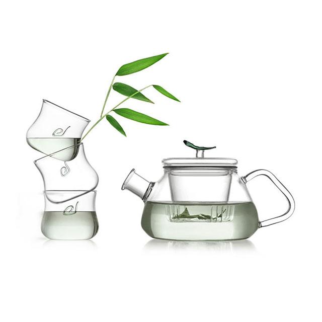 乐怡(VATIRI) 一叶飘香过滤耐热玻璃茶具五件礼盒套装 VS0002 (用友实体店自提)