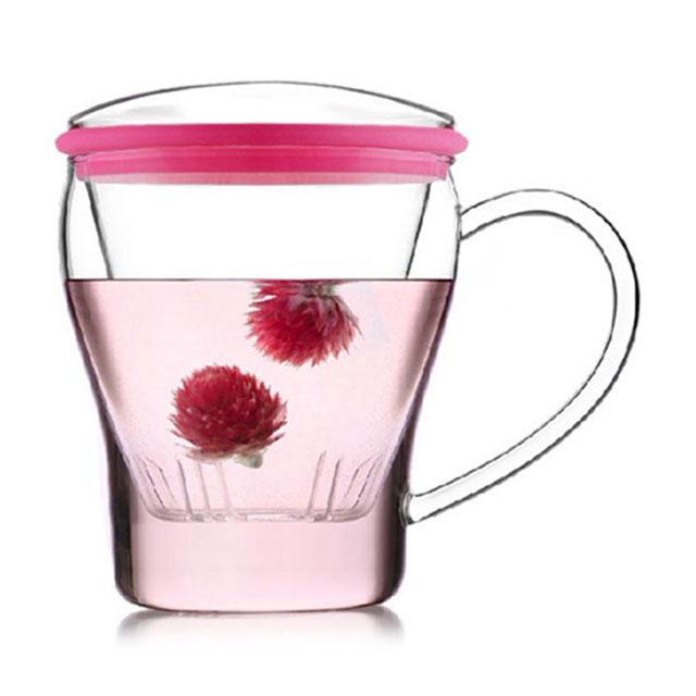 乐怡(VATIRI) 俪姿三件式玫瑰粉玻璃茶杯 VTC0015 300ML