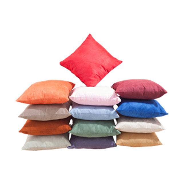 铺铺家纺 麂皮绒抱枕靠垫 40X40cm