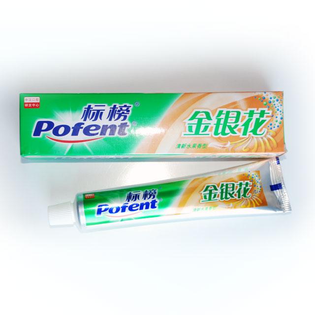 标榜 金银花清新水果香型牙膏 105g