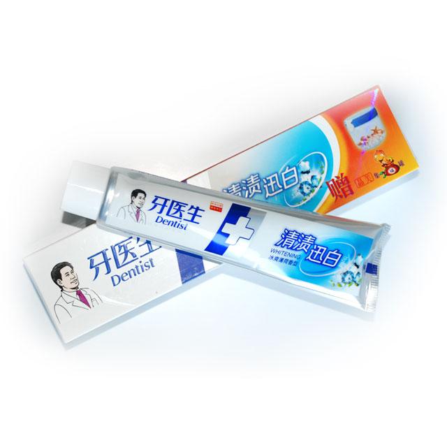 牙医生 清渍迅白冰爽薄荷香型牙膏 120g