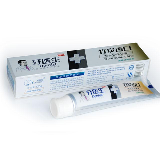 牙医生 竹炭香口专业护理牙膏 120g