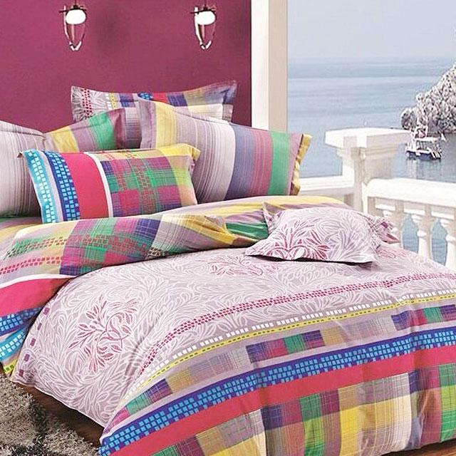 爱茉莉 纯棉印花四件套 双人床品 适用1.5米 1.8米