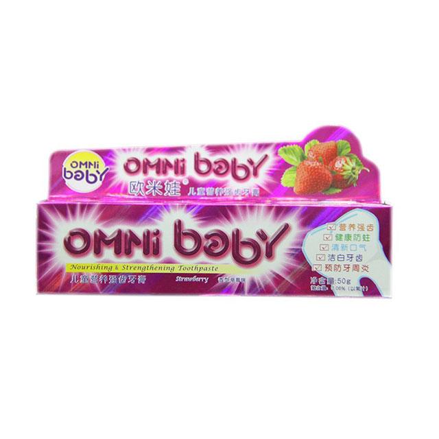 欧米娃(OMNi baby) 儿童营养强齿牙膏 50g