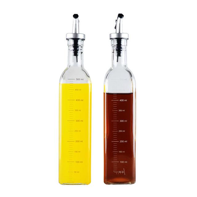 北斗正明 经典玻璃调味瓶2件套 500ml*2