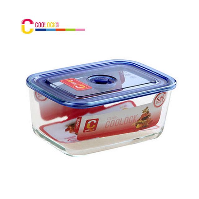 酷扣 COOLOCK 高硼硅 耐热玻璃 按扣式 保鲜盒 方形 饭盒1500ml