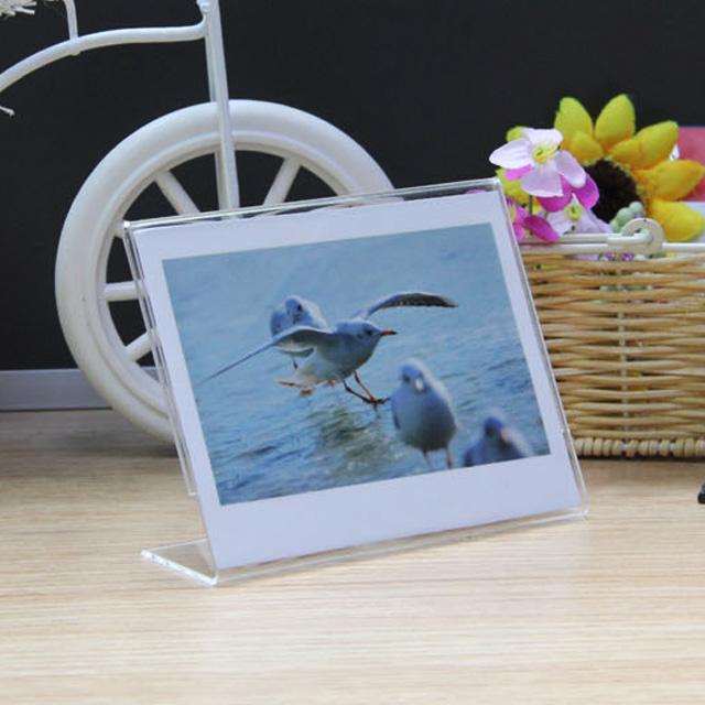 富士拍立得宽幅210相纸专用L形透明亚克力相框 5寸桌面摆件