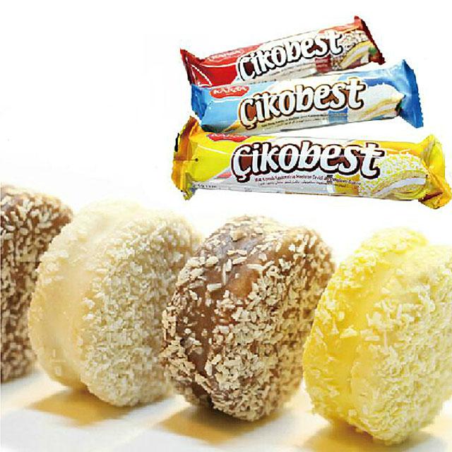 KARSA咔咔莎 椰蓉饼干 土耳其进口香蕉/黑/白巧克力软曲奇 64G