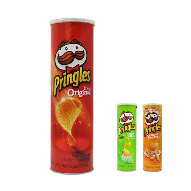 Pringles 品客薯片 美国进口 三种口味 桶装