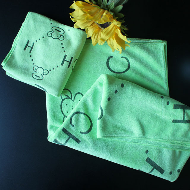 纳米超细纤维卡通时尚柔软强吸水浴巾毛巾套装