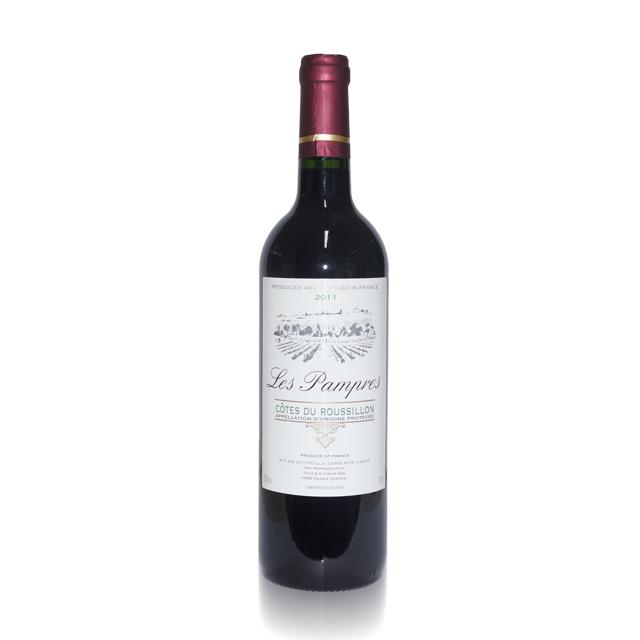 法国进口葡萄酒 南部老葡藤2011年干红葡萄酒(Les Pampres AOP) 南部老葡藤 PT1744  750ml