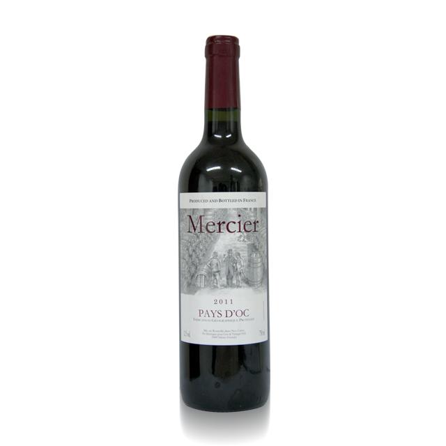 法国进口葡萄酒 梅西老爷2011年干红葡萄酒(Mercier IGP) 梅西老爷  PT1742  750ml