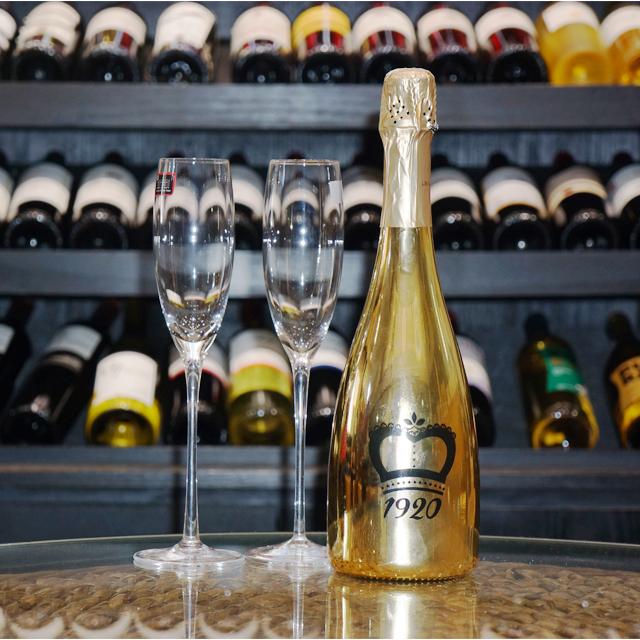 西班牙进口起泡酒 摩尔特级藏酿起泡葡萄酒 PT2287  750ml + 赠送香槟杯 BGLS003  2支