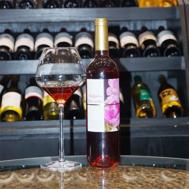保加利亚进口葡萄酒 保加利亚玫瑰葡萄酒(Bulgarian rose Wine)玫瑰酒 PT2304 750ml + 赠送 勃艮第双支杯套装  GLS113  2支