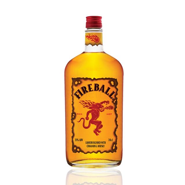进口洋酒 加拿大火龙肉桂威士忌(Fireball Cinnamon Whisky) 火龙肉桂 YJ2431 700ml
