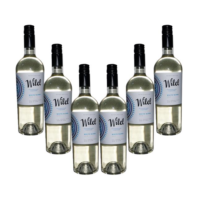 智利进口葡萄酒 6支 维力安2013年干白葡萄酒(Wilel Sauvignon Blanc Chardonnay) 维力安  PT2298  750ml*6