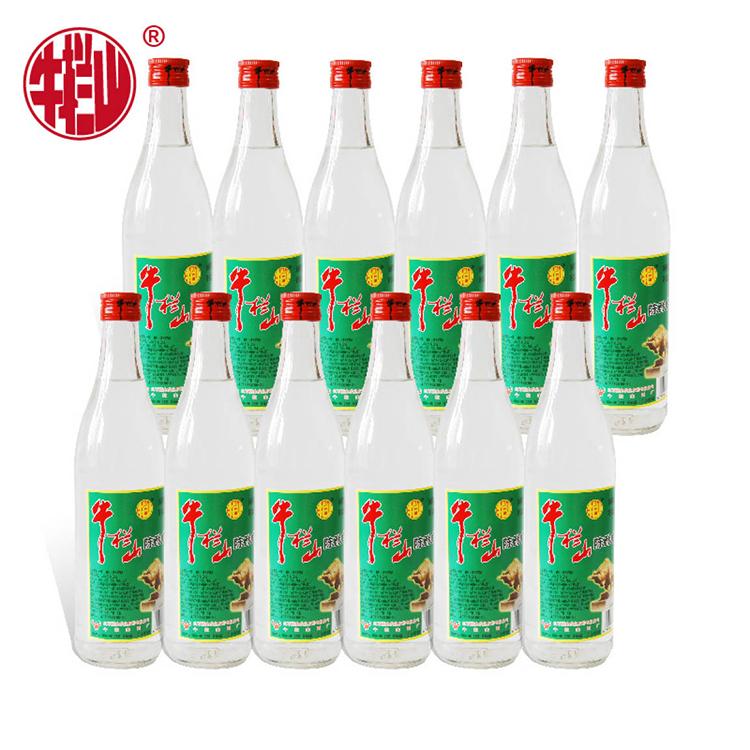 牛栏山白瓶陈酿 52度 浓香型 500ml*12瓶 箱装