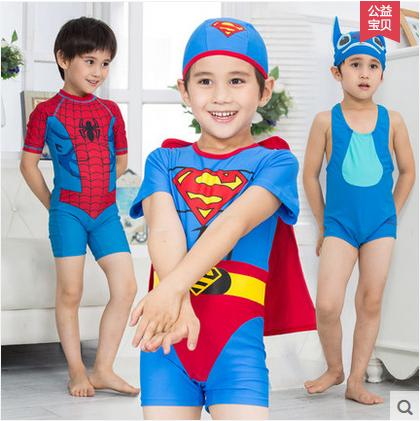 儿童泳衣男童宝宝连体游泳衣婴儿泳裤分体可爱韩国卡通游泳造型衣