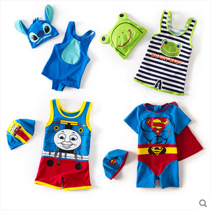 卡通儿童泳衣男童泳裤可爱韩国分体连体游泳衣宝宝婴儿造型衣泳衣