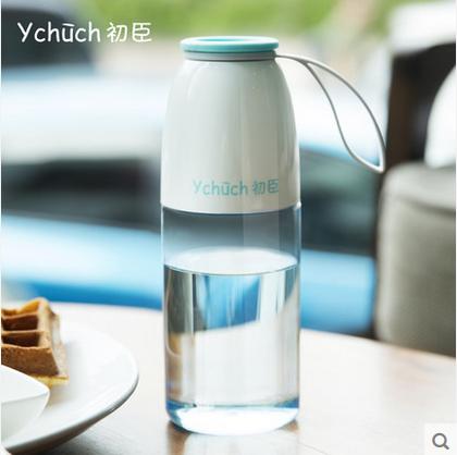 初臣大萌杯 水杯塑料 学生便携夏季随手杯创意防漏运动杯子530ml