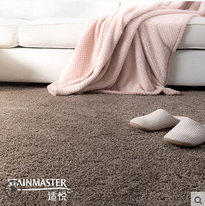 北欧床边地毯沙发纯色地毯